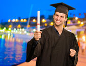 Portrait Of Young Graduation Man — Stock Photo