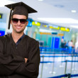 Happy Graduate Man — Stock Photo