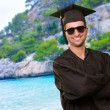 Portrait Of Happy Graduate Man — Foto Stock