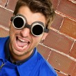Portrait of an engineer wearing goggle — Stock Photo #18781181