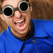 Portrait of an engineer wearing goggle — Stock Photo