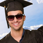Portrait Of Happy Graduate Man — Stock Photo