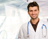 Portrait Of Happy Doctor — Stock Photo