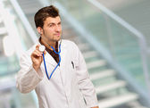 Young Male Doctor Doing Check Up — Stock Photo