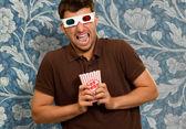 年轻男子戴着 3d 眼镜 — 图库照片