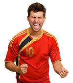 Portrait Of Excited Sportsman — Stock Photo