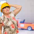Stock Photo: Senior WomWearing Hard Hat