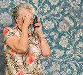 Senior Woman Capturing Photo — Stock Photo
