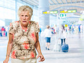 Portrait Of Angry Senior Woman — Stock Photo
