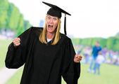 Porträtt av en arg examen — Stockfoto