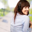 Happy Woman Wearing Headphone — Stock Photo #18816095
