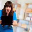 Woman Holding Ipad — Stock Photo #18816199