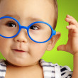 Portrait Of Baby Boy Wearing Blue Eyewear — Stock Photo #18817107