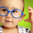 Portrait Of Baby Boy Wearing Blue Eyewear — Stock Photo