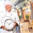 Potrait Of Chef Showing Watch — Stock Photo #18817681