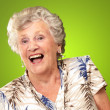 Portrait Of A Senior Woman Happy — Stock Photo #18818237