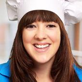 Portrait of a happy female chef — Stock Photo