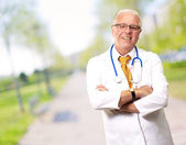 Portrait Of A Senior Man Doctor — Stock Photo