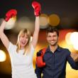 Portrait Of Happy Boxing Couple — Stock Photo #19516795