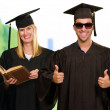 Portrait Of Two Young Graduate — Stock Photo #19516847