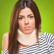 Stock Photo: Young womwith neck brace