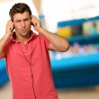 Young Man Holding Headphone — Stock Photo #19518249