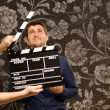 Director Clapping The Clapper Board — Lizenzfreies Foto
