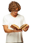 Portrait Of A Man Reading A Book — Stock Photo