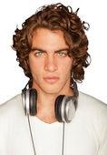 Handsome Man With Headphones — Stock Photo