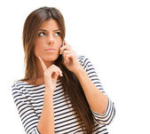 Young Woman Talking On Cellphone — Stock Photo