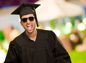 Portrait Of Graduate Man Shouting — Stock Photo