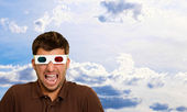 Young Man Wearing 3d Glasses — Stockfoto
