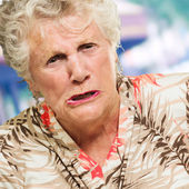 Portrait Of Angry Senior Woman — 图库照片