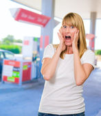 Portrait Of Shocked Woman — Stock Photo