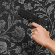 Woman's Hand With A Gun — Stock Photo