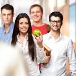 Portrait of happy group students — Stock Photo
