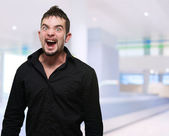 Young Man Screaming — Stock Photo