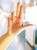 Mão humana apontando — Foto Stock