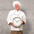 Potrait Of Chef Showing Watch — Stock Photo #19542049