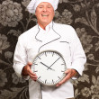 Potrait Of Chef Showing Watch — Stock Photo #19542097