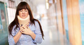Woman Wearing Neckbrace — Stock Photo