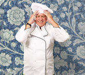 Portrait Of Chef With Painfully Head — 图库照片