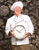 Potrait Of Chef Showing Watch — Foto de Stock