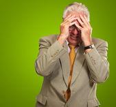 Senior Business Man In Tension — Stock Photo