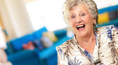 Portrait Of A Senior Woman Happy — Stock Photo