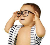 Portrait Of Baby Boy Wearing Eyeglasses — Foto de Stock