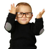 Happy Baby Boy Wearing Eye Glasses — Stock Photo