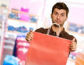 Joven cartera bolso de compras — Foto de Stock
