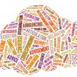 Cloud Made Up Of Text — Stock Photo