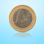 Close-up Of 1 Euro Coin — Stock Photo